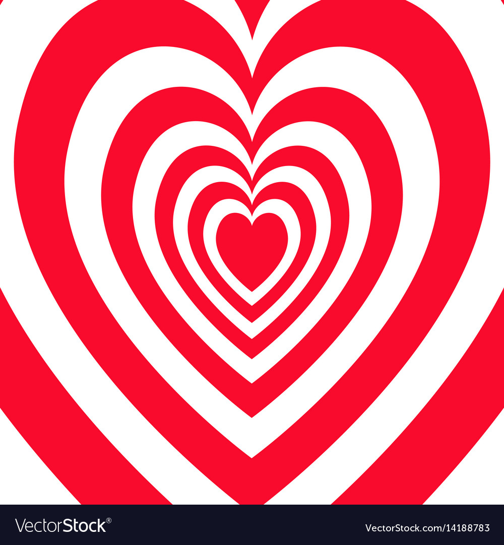 Valentines day abstract background white and red vector image