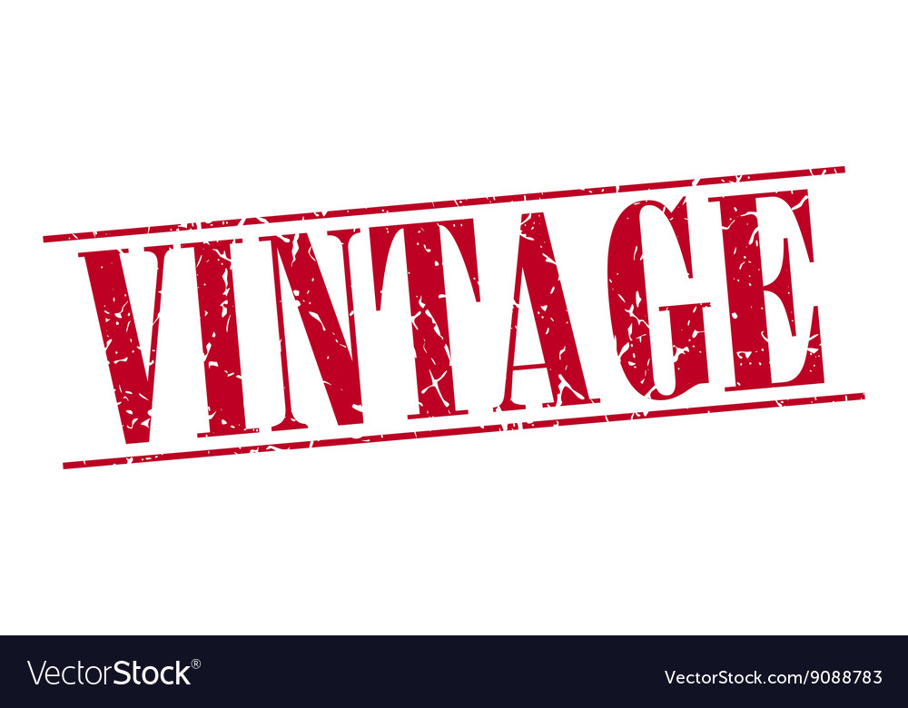 Vintage red grunge vintage stamp isolated on white vector image
