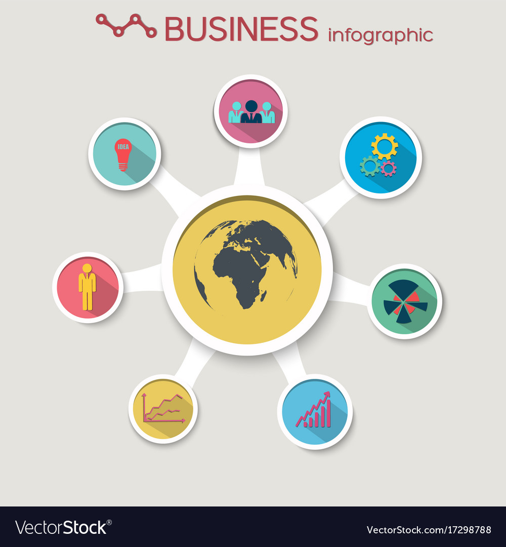 Abstract business circle infographics