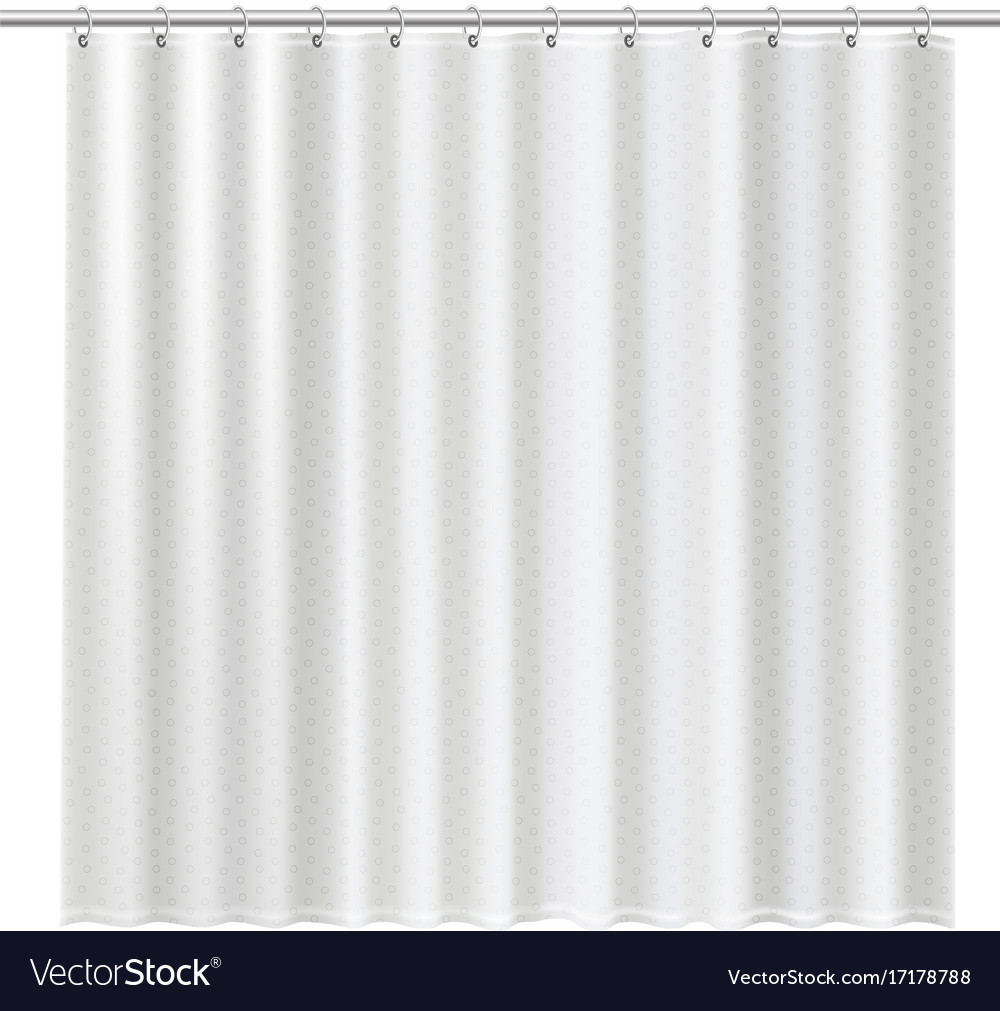 Blank shower curtains mock up to show your design Vector Image