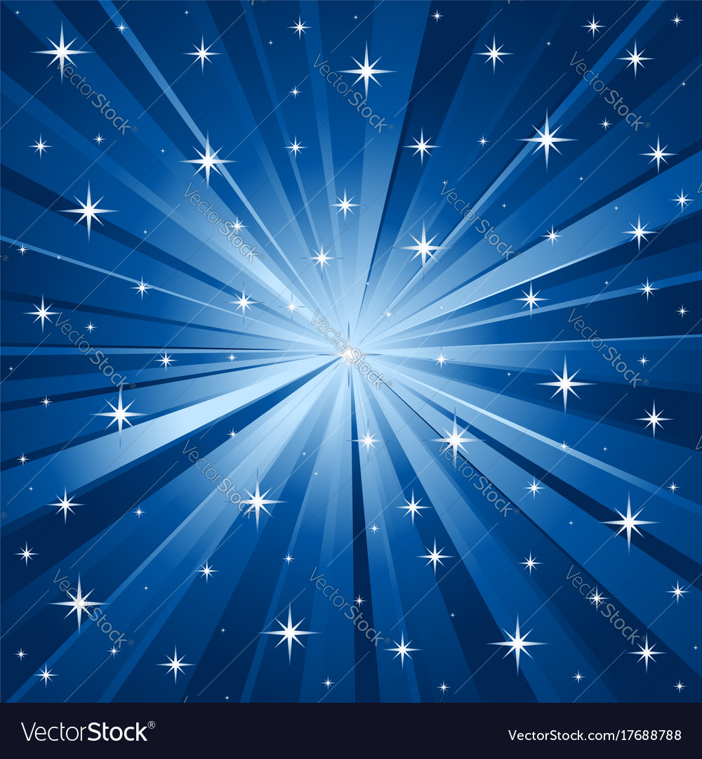 Blue stars background Royalty Free Vector Image