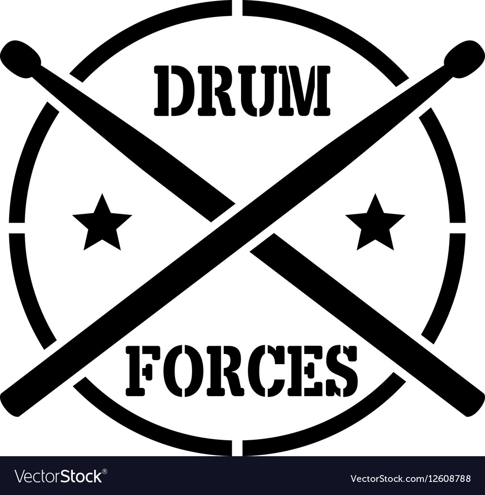Drum sticks with word drummer vector image