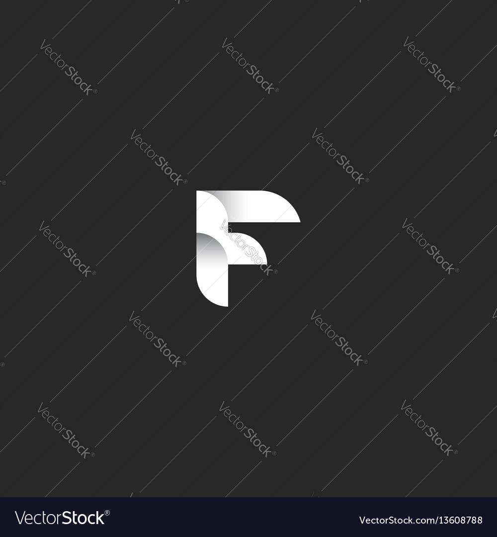 Letter f logo template initial hipster emblem