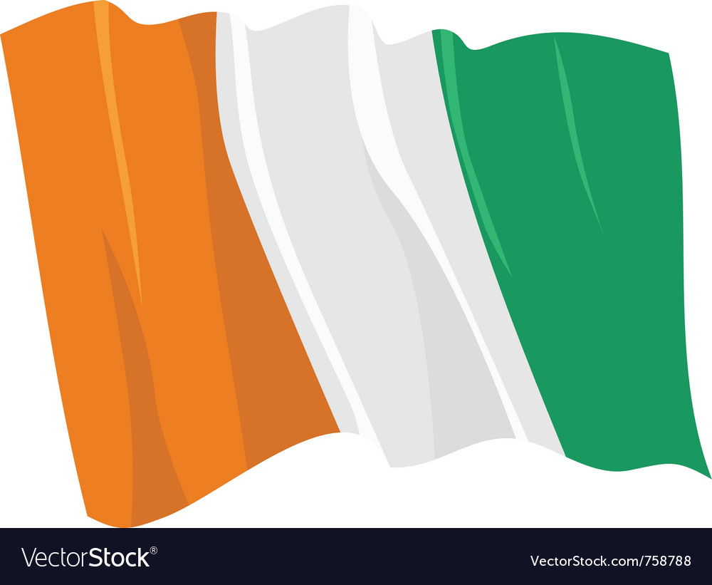 Political waving flag of ivory coast