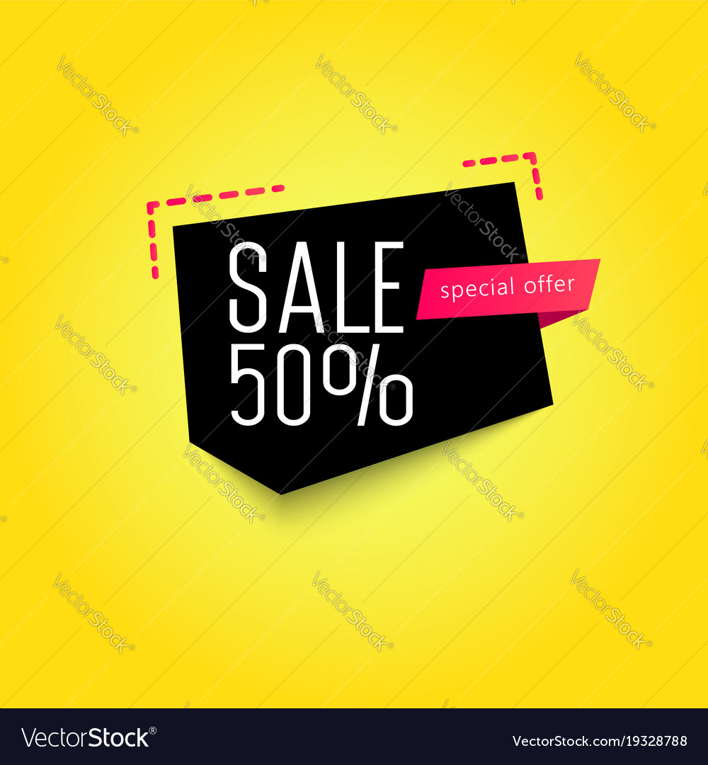 sale banner template 50 off royalty free vector image