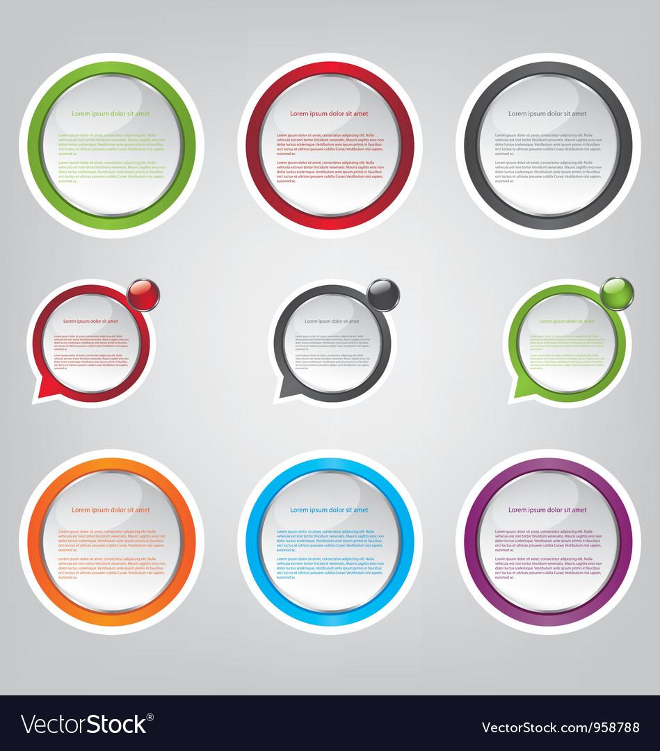 Web bubble icons