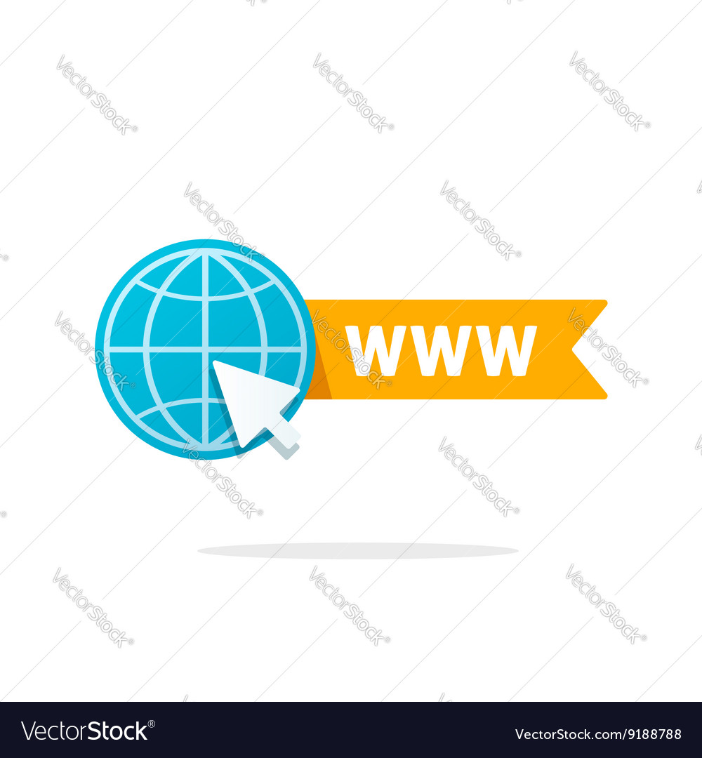 Website icon isolated on white vector image