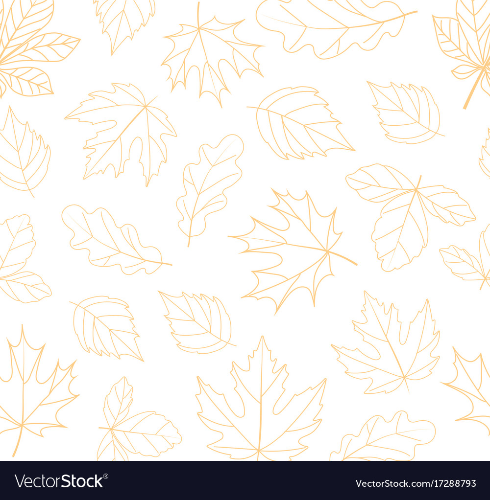 Autumn seamless background fall time concept vector image