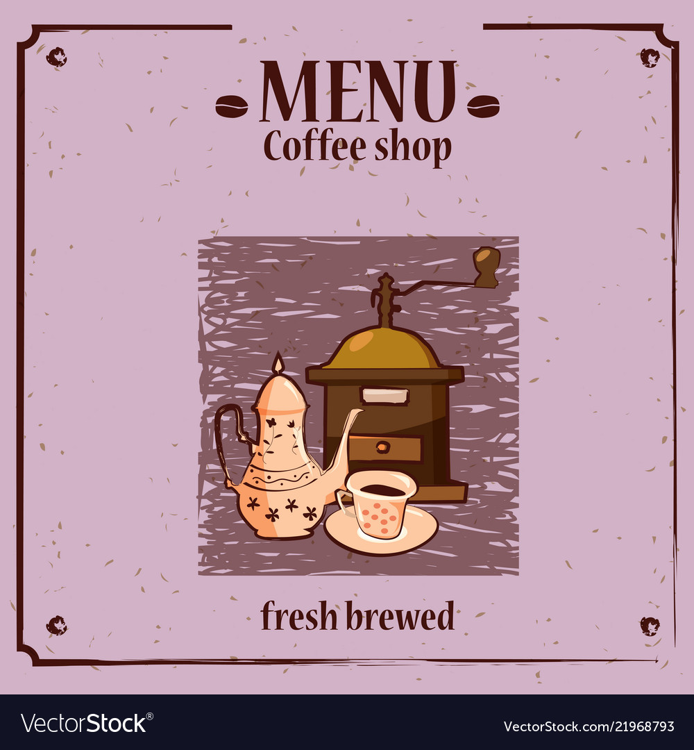 Coffee Menu Template For Shop With Vector Image