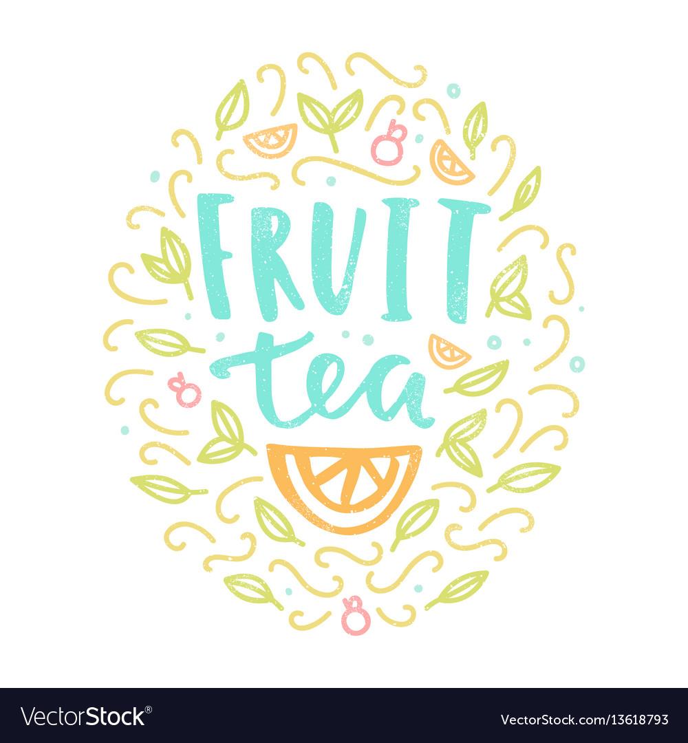 Fruit tea label