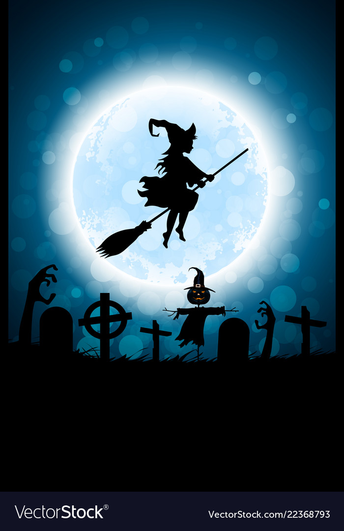 halloween funny background with bat and haunted vector image