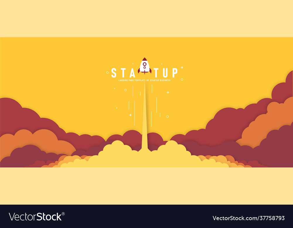 Launch a rocket in sky flying above the