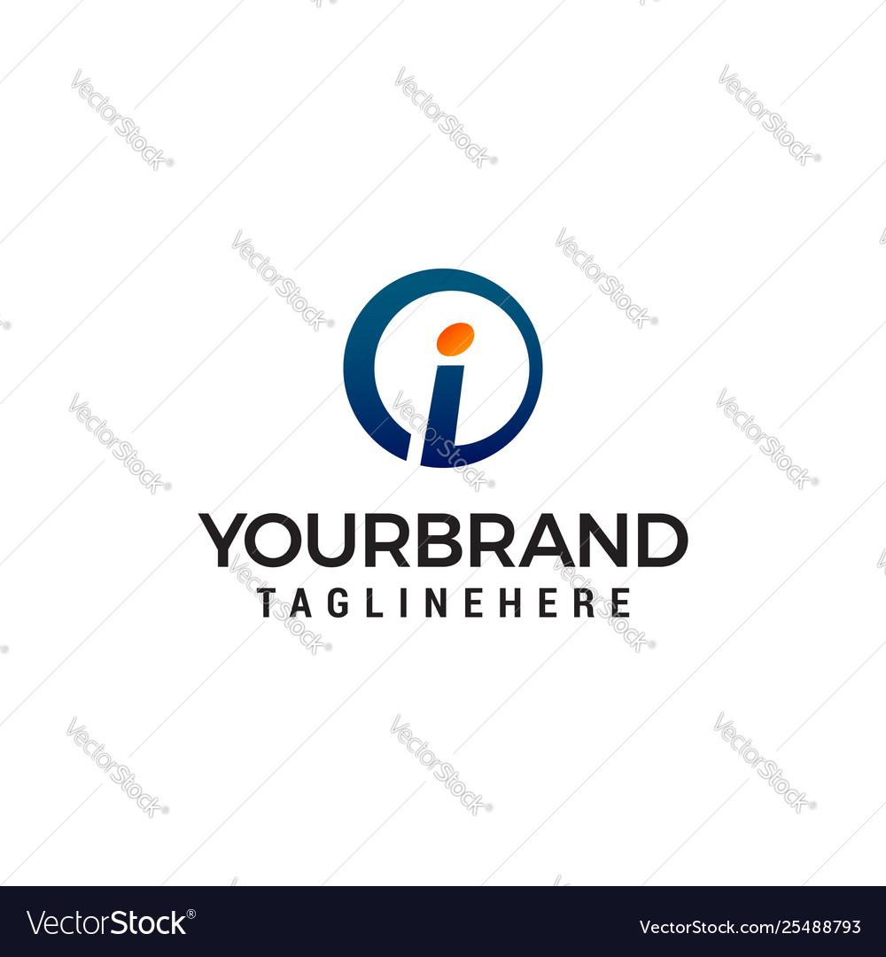 Letter i logo design concept template
