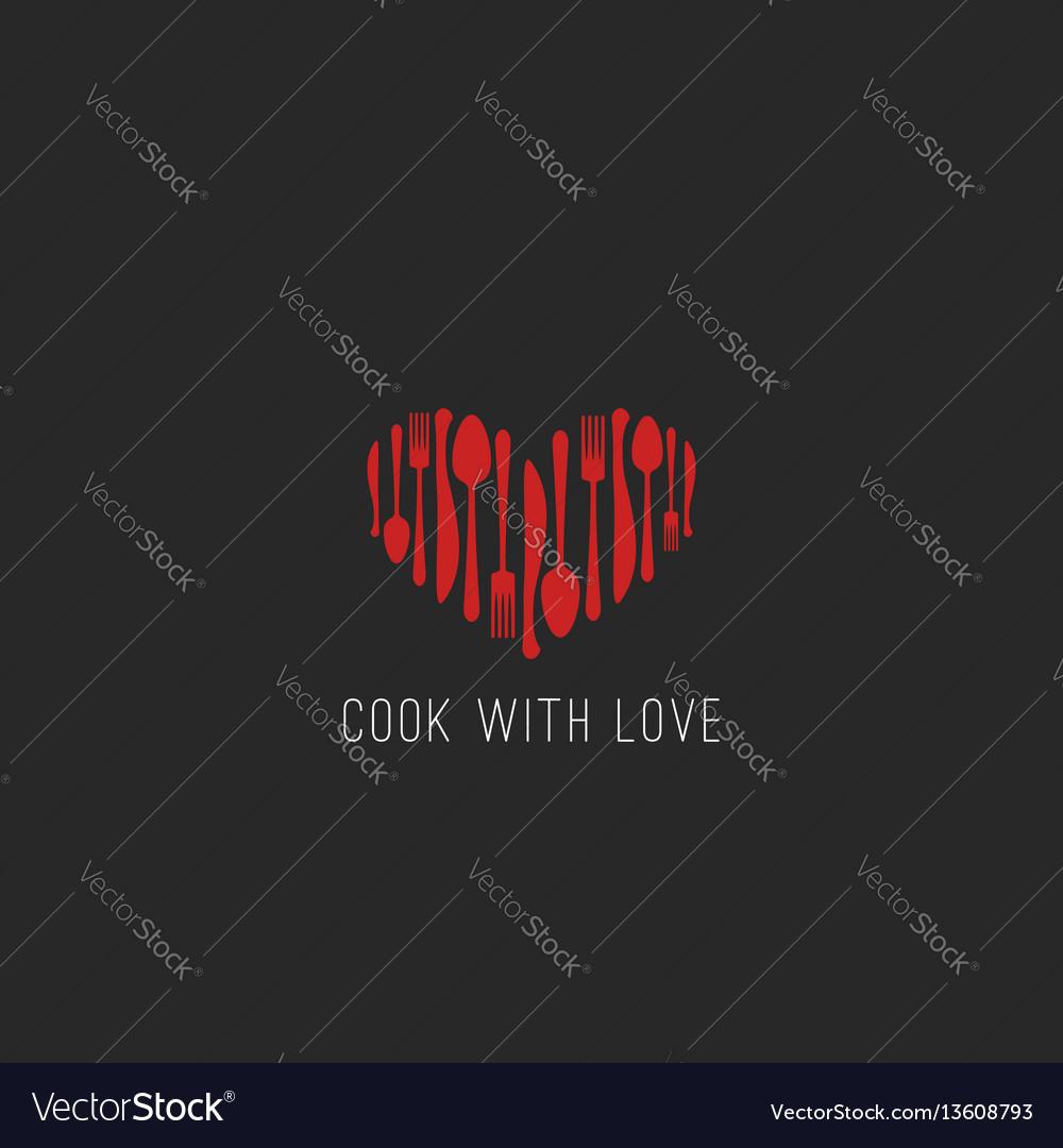 Menu logo restaurant tableware fork spoon knife