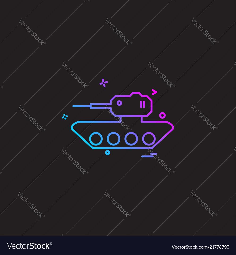 Military tank war weapon icon design