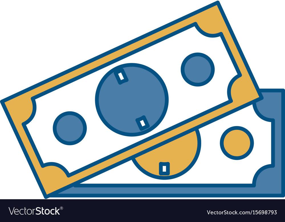 Money bills icon vector image