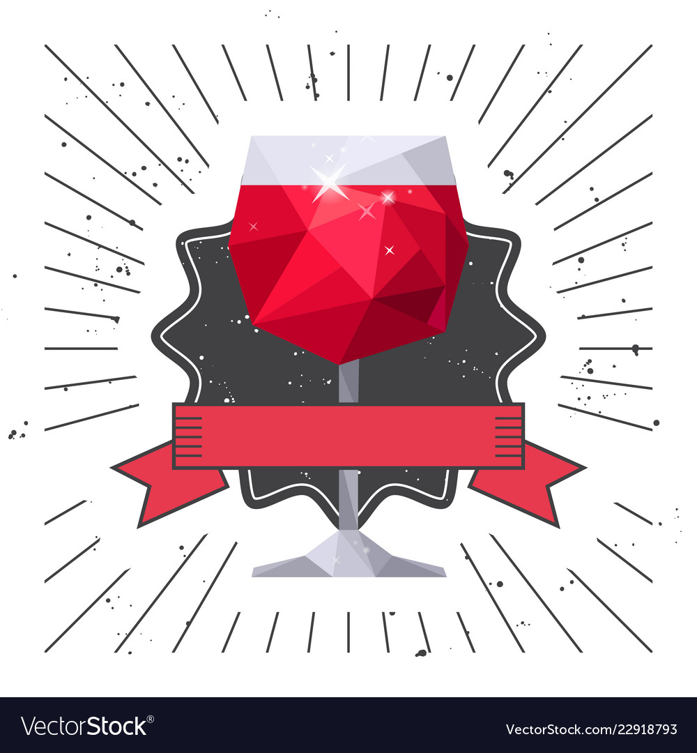 Red wine glass drink party flyer