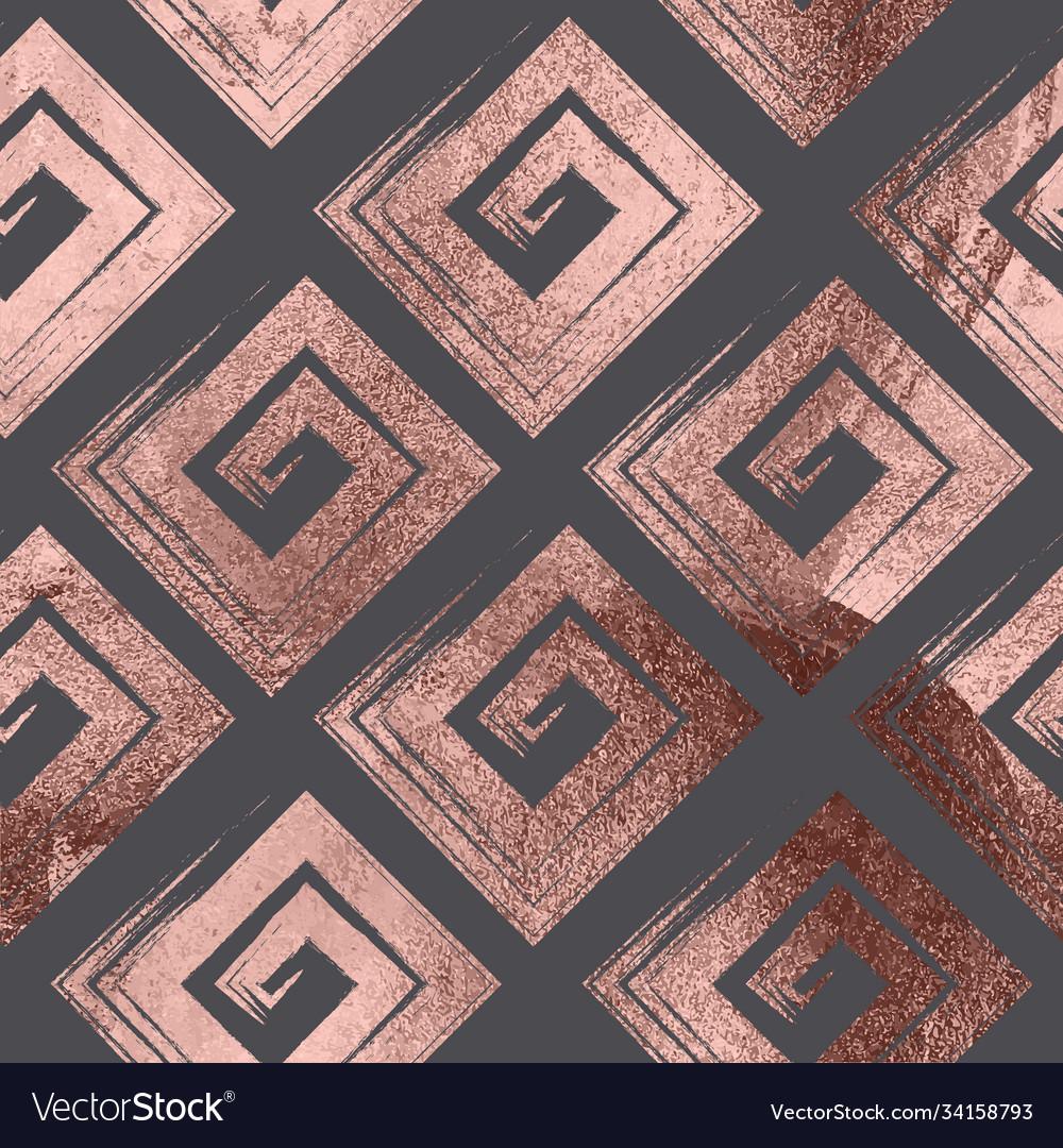 Rose gold geometric seamless pattern background