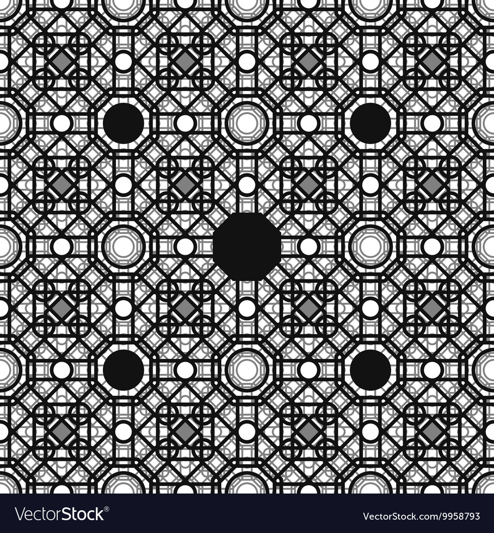 Seamless pattern with overlapping geometric shapes