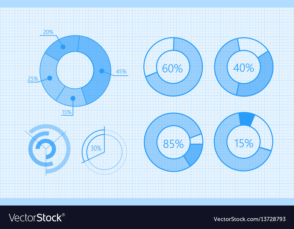 Set of diagrams for business infographics
