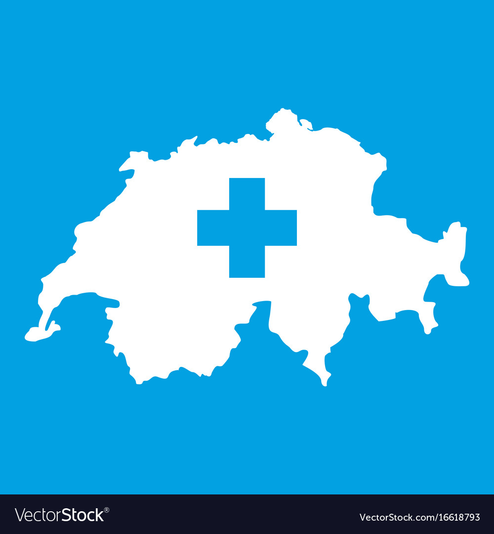 Switzerland map icon white royalty free vector image switzerland map icon white vector image gumiabroncs Gallery