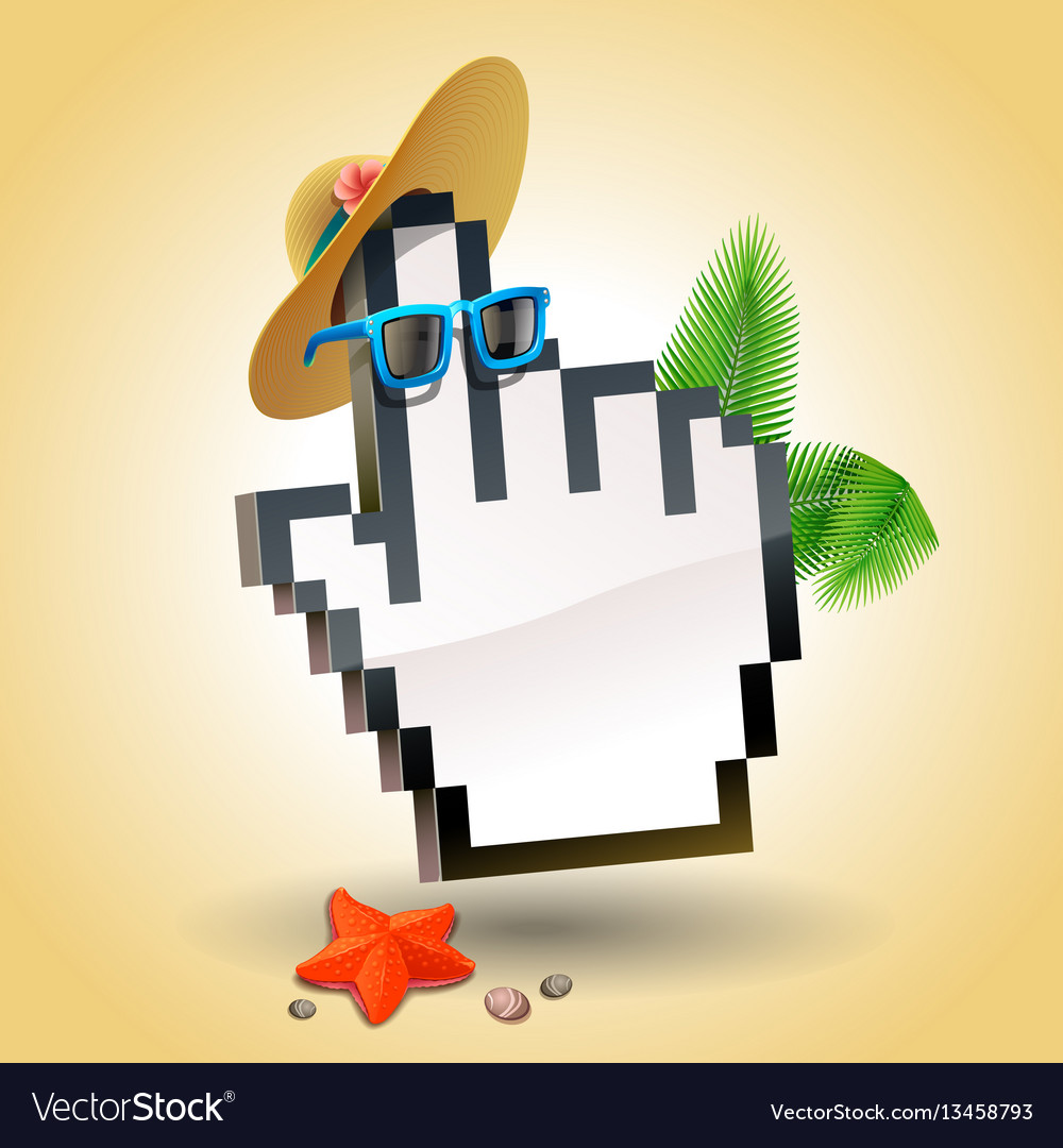 Travel cursor hand icon vector image