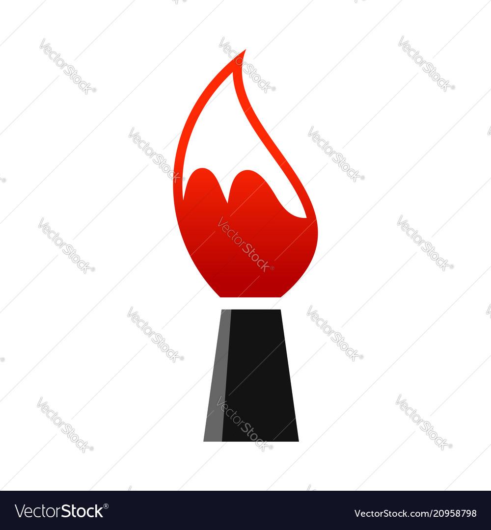 Artist paintbrush symbol design