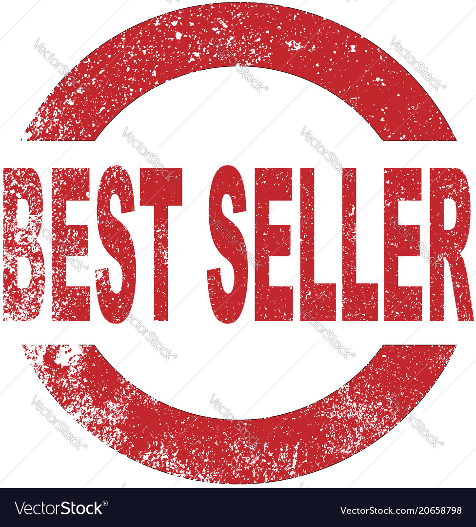 Best seller rubber stamp vector image on VectorStock