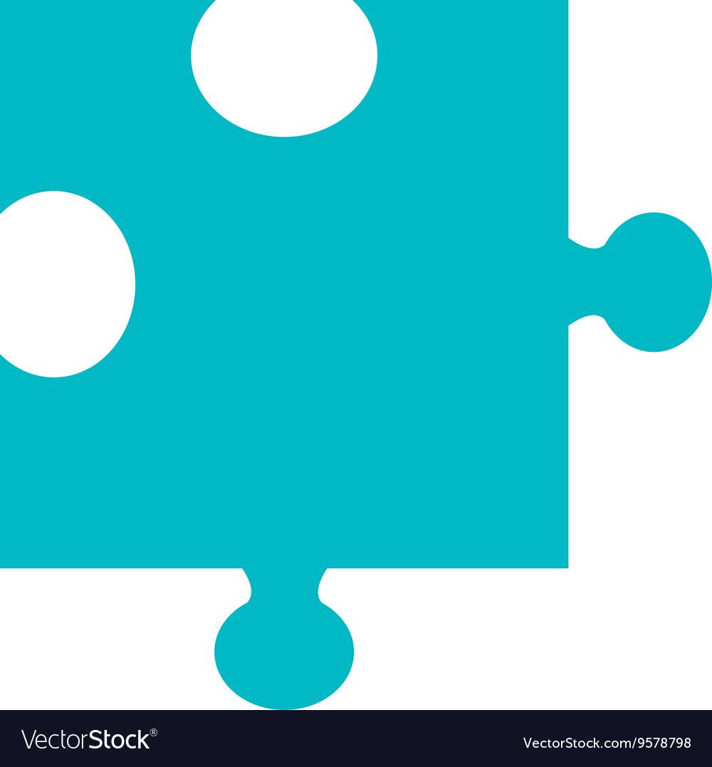 Blue puzzle piece graphic