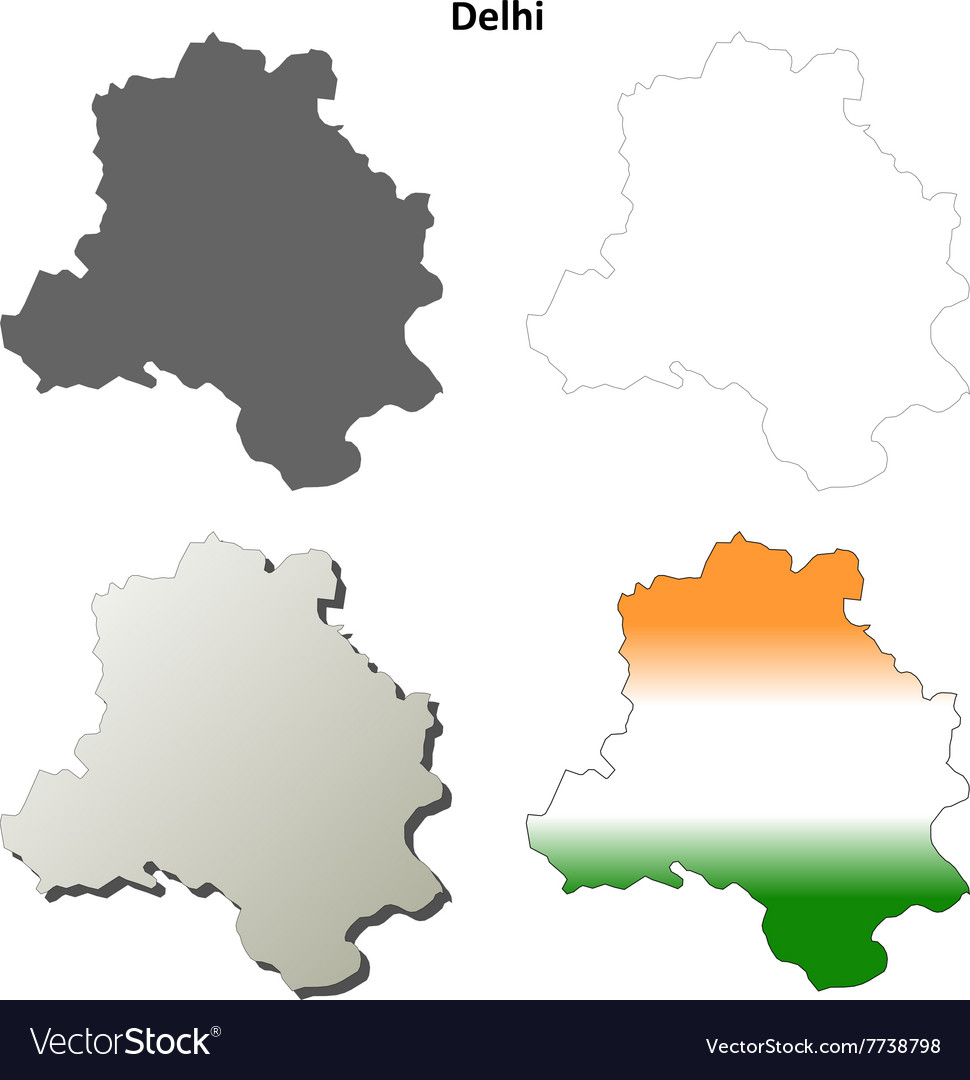 Blank, India, Map & Border Vector Images (38)