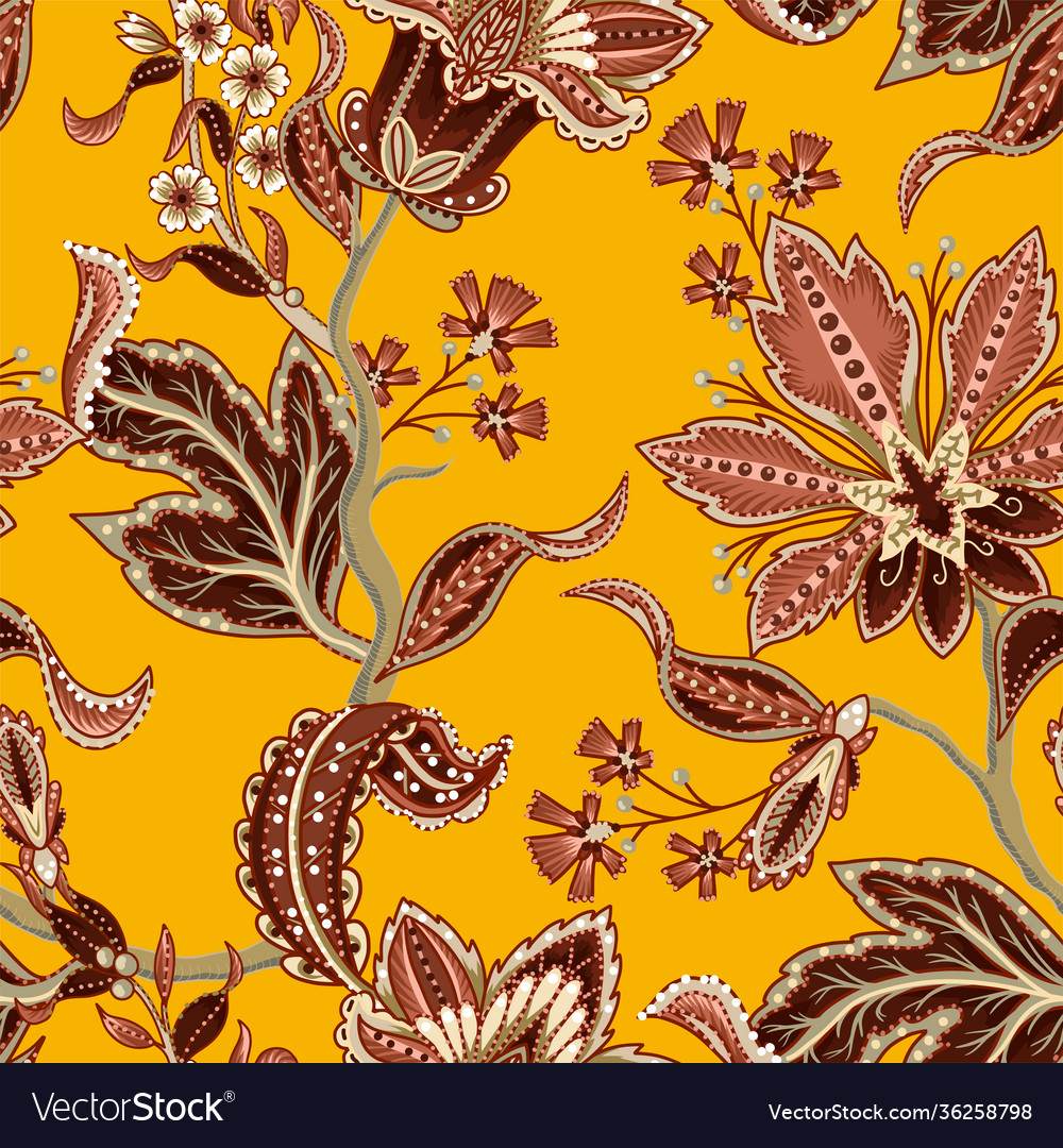 Ethnic seamless pattern with indian ornament