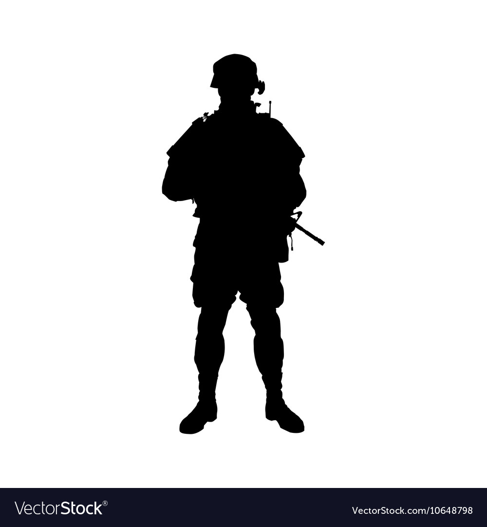 soldier silhouette royalty free vector image vectorstock
