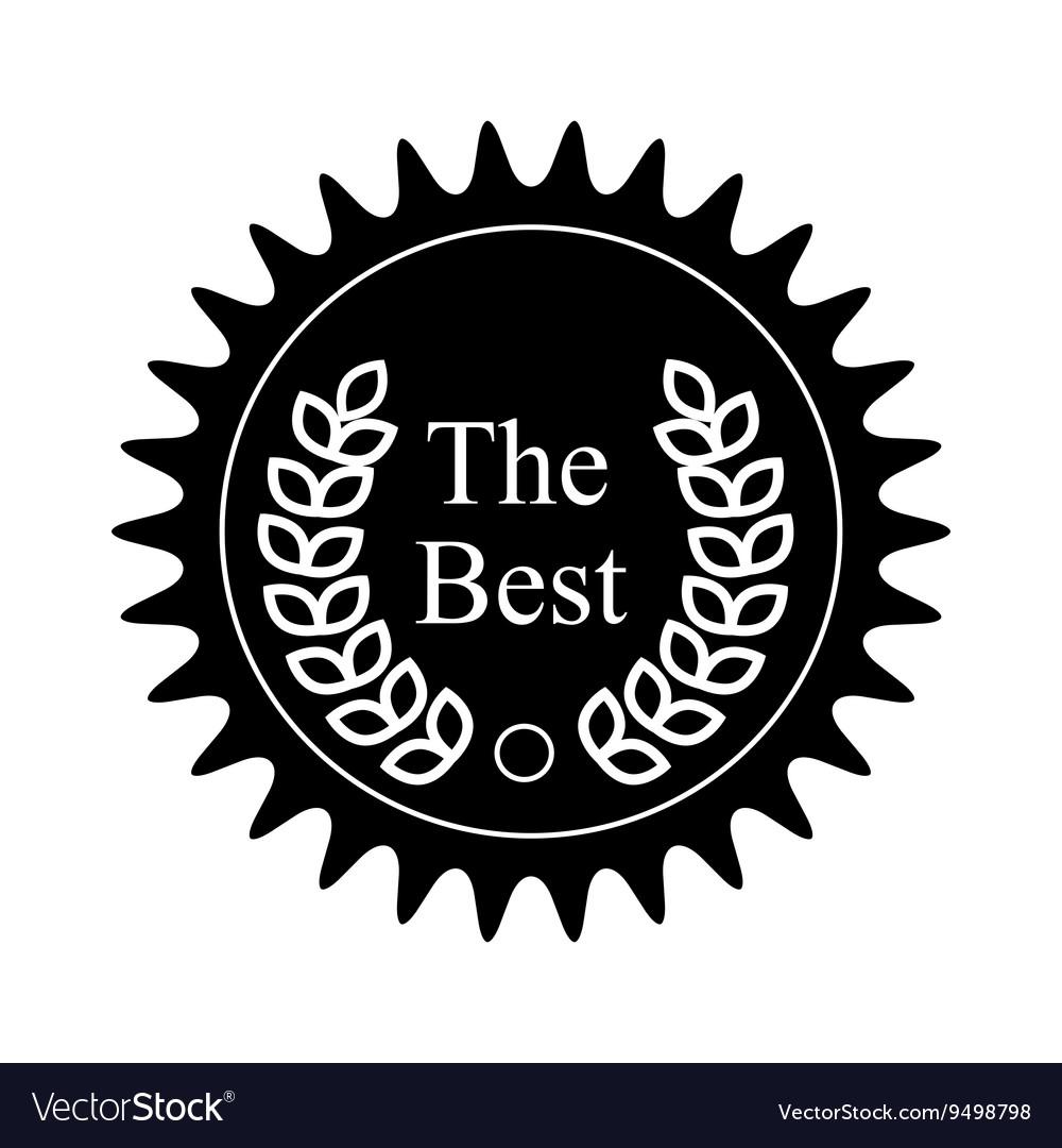 Winner award badge icon black simple style