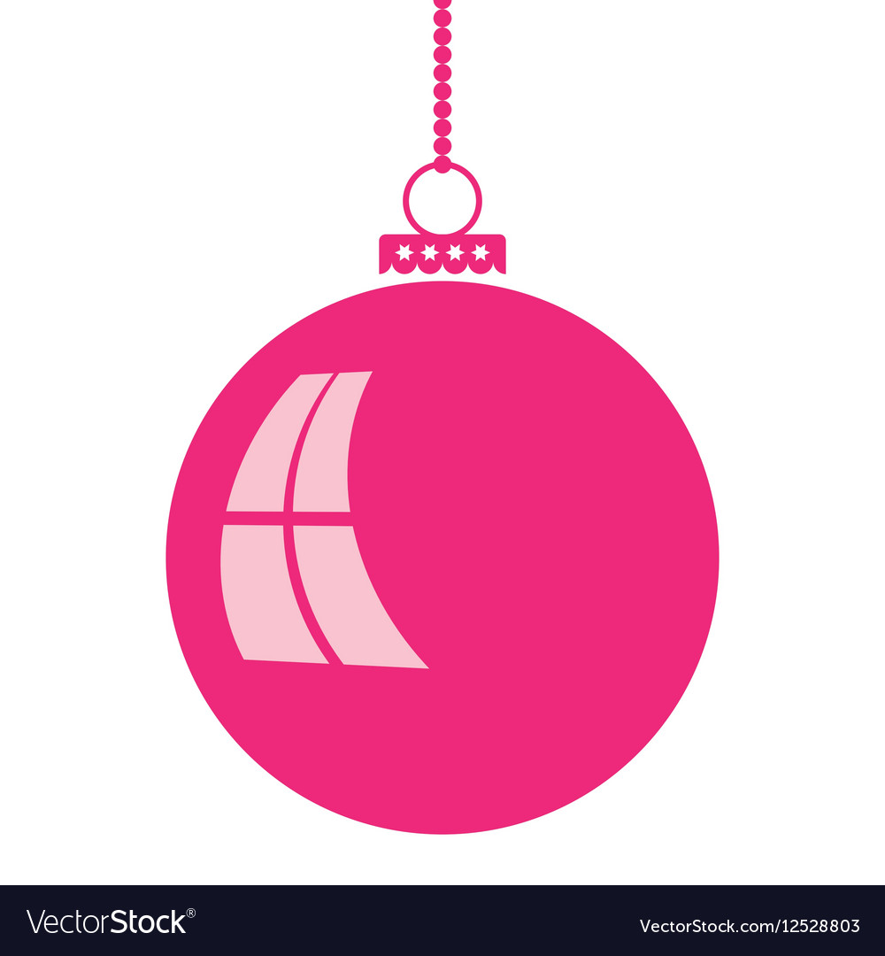 Abstract christmas ball in flat style