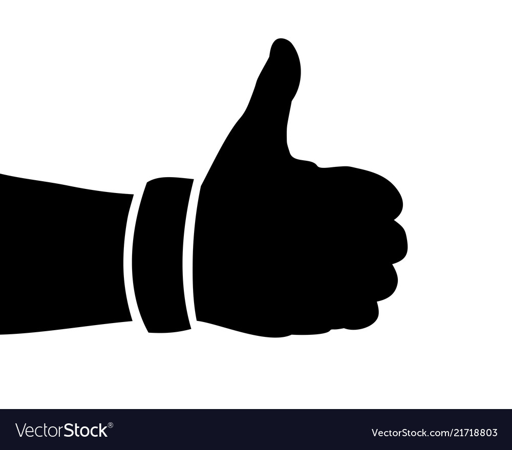 Black hand silhouette thumbs up