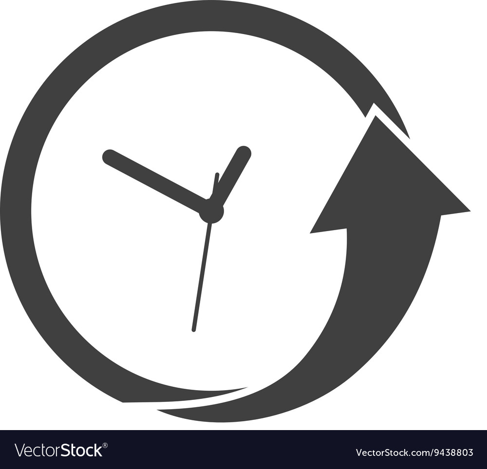 Clock and arrow icon Time design graphic