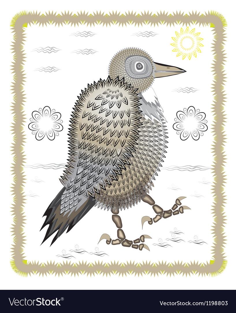 Funny Crow Royalty Free Vector Image Vectorstock