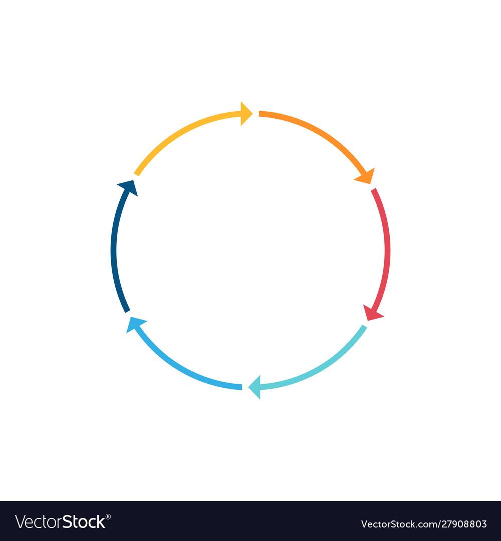Infographic circle line arrow icon