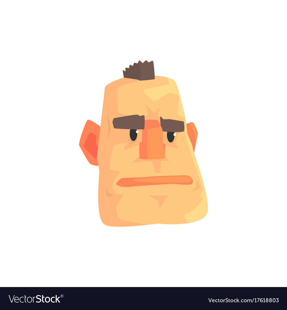 Man face with mohawk cartoon character