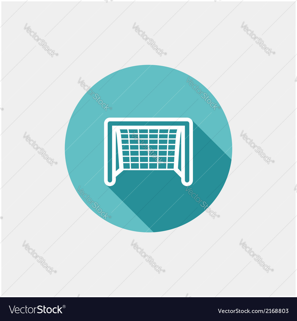soccer goal flat icon royalty free vector image