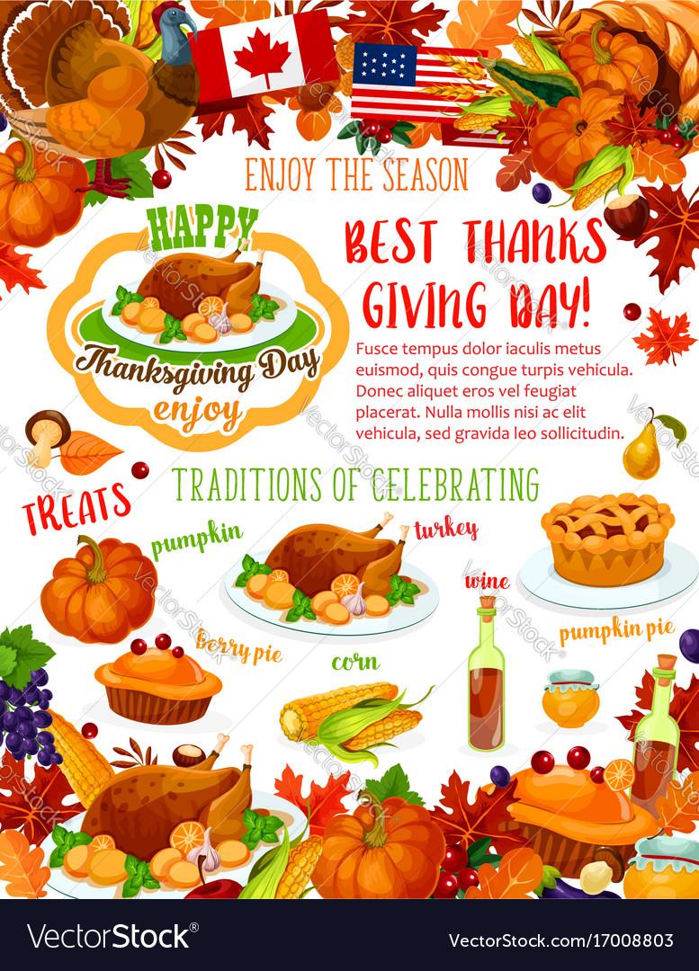 Thanksgiving day banner fall harvest celebration