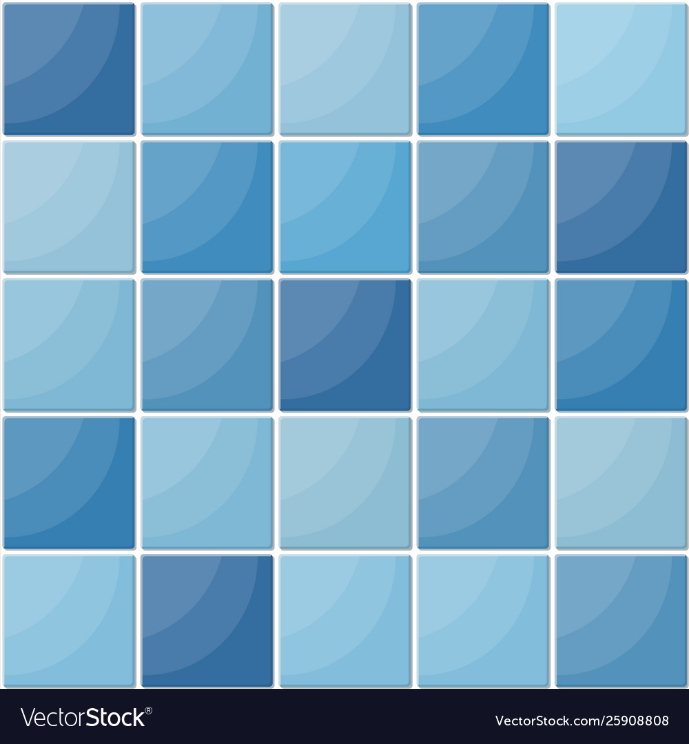 Blue ceramic tiles seamless pattern