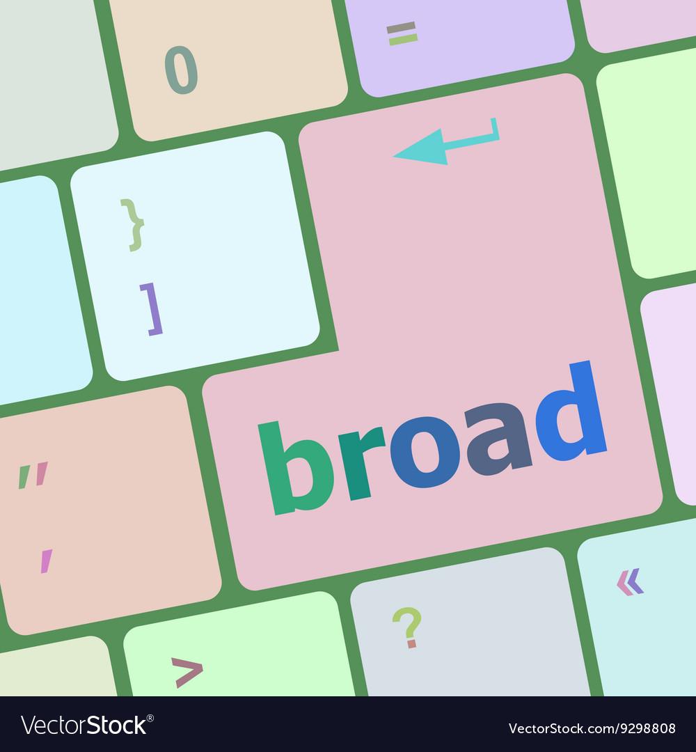 Broad word on keyboard key