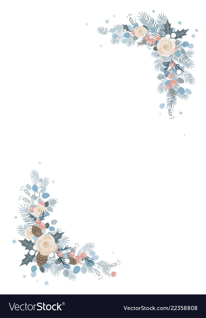 Christmas decoration isolated frame on a white
