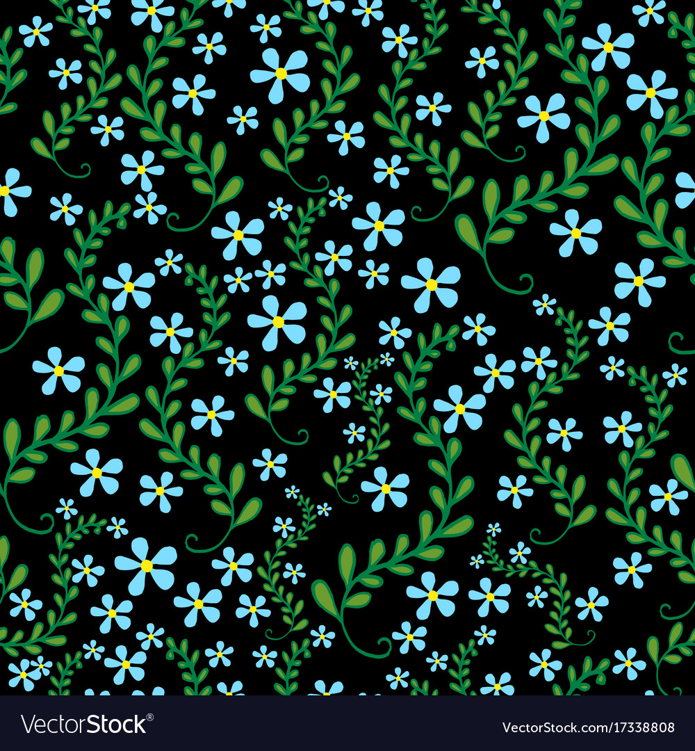 Field wild flowers seamless floral pattern
