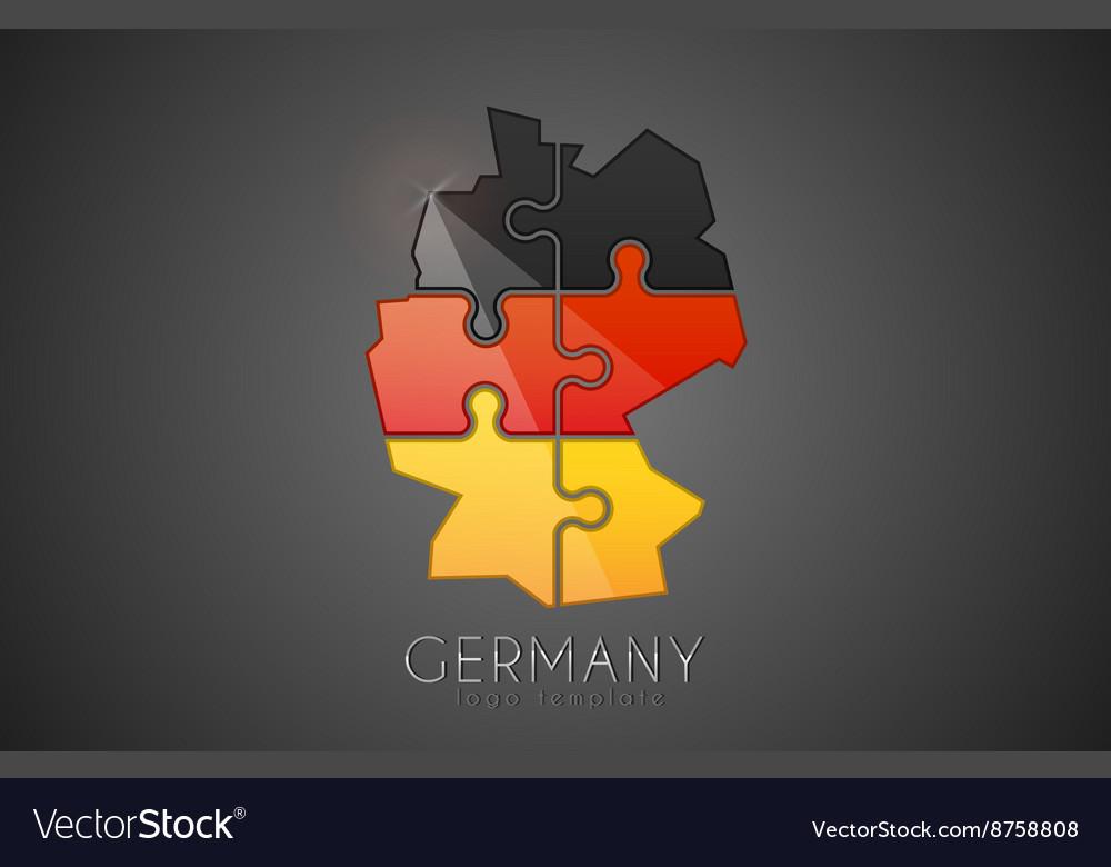 Germany logo Puzzle Germany logo design Creative