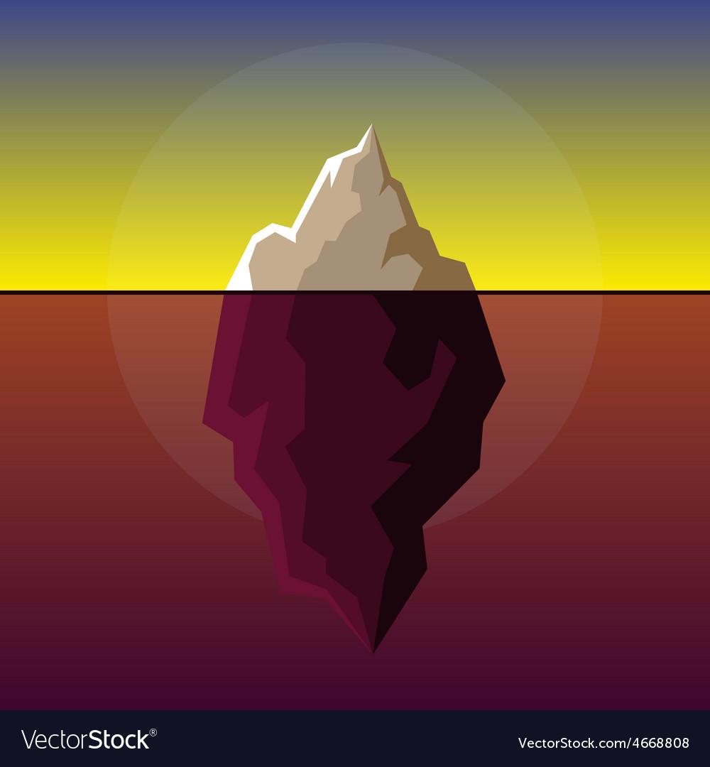 Iceberg on sunset atlantic background