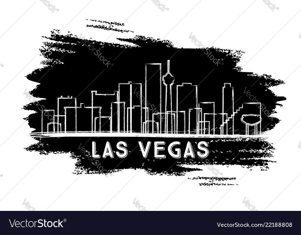 Las vegas nevada city skyline silhouette hand