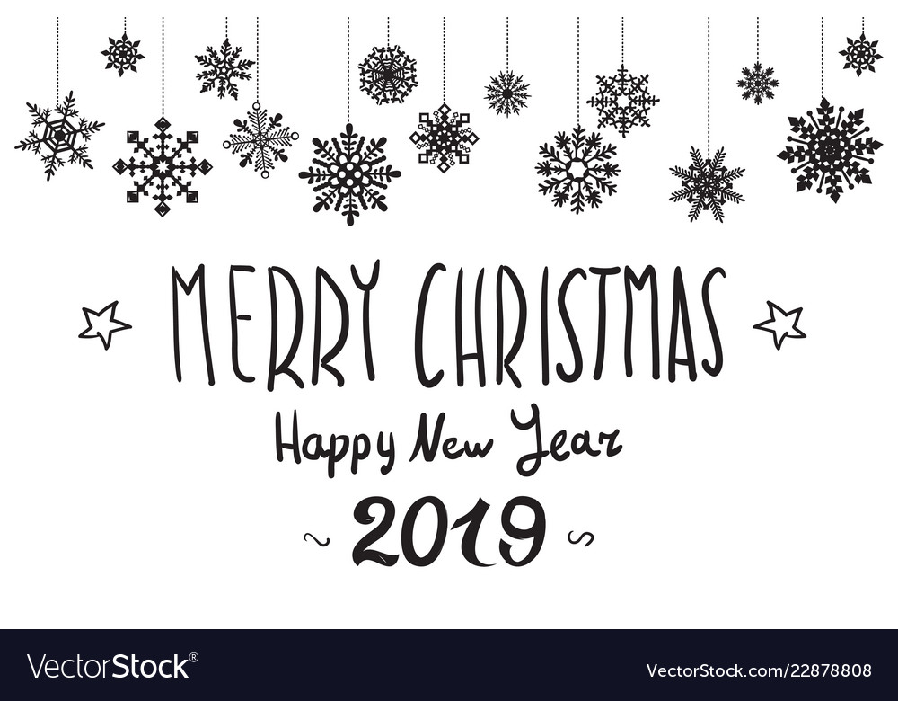 Merry christmas and happy new year 2019 xmas