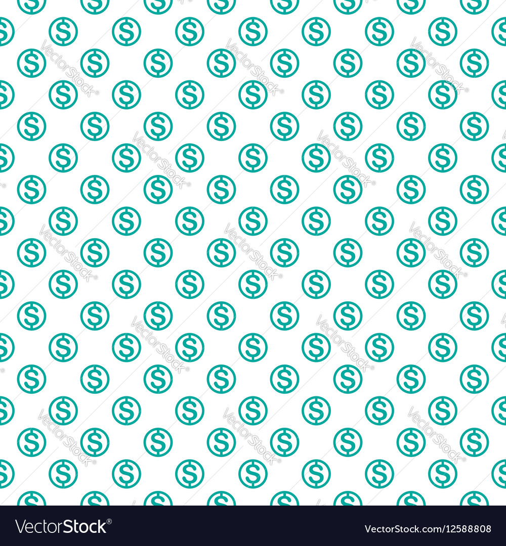 Seamless pattern with dollar sign Repeating